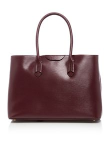 Lauren Ralph Lauren Tate burgundy large city tote bag