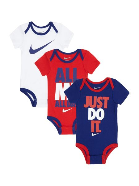Nike Newborn 3 Pack Just Do It Bodysuit