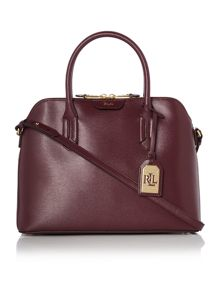Lauren Ralph Lauren Tate burgundy satchel bag