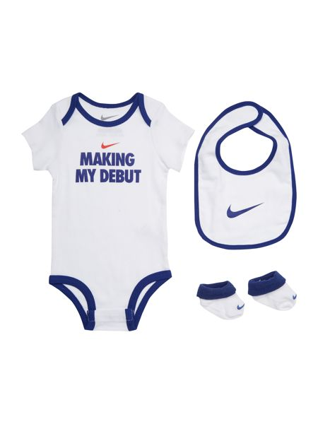 Nike Newborn Debut Body, Bib & Booties 3 Pack