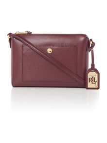 Lauren Ralph Lauren Newbury burgundy cross body bag
