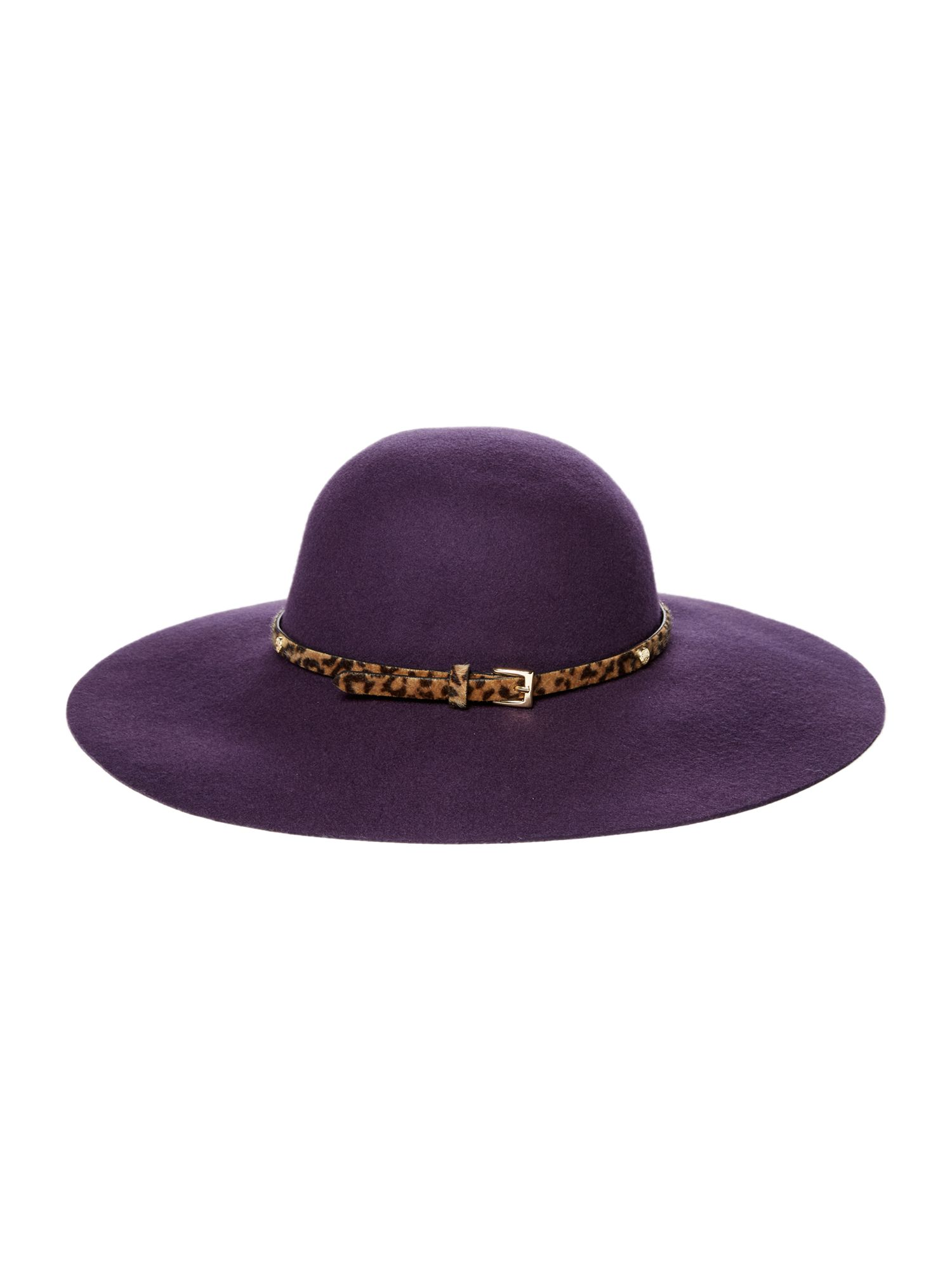 Biba Biba Biba Floppy Felt Hat, Purple