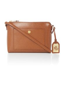 Lauren Ralph Lauren Newbury tan cross body bag