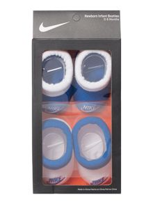 Nike Newborn 2 Pack Booties Gift Set