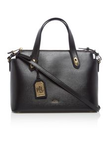 Lauren Ralph Lauren Newbury black cross body tote bag