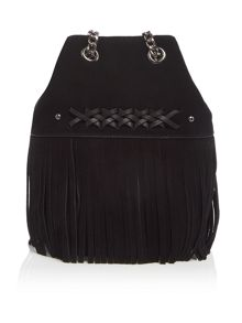Lauren Ralph Lauren Barton black mini bucket bag