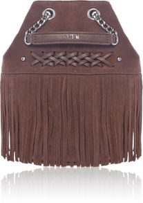 Lauren Ralph Lauren Barton brown mini bucket bag