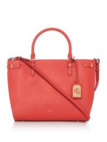Lauren Ralph Lauren Winston red cross body tote bag
