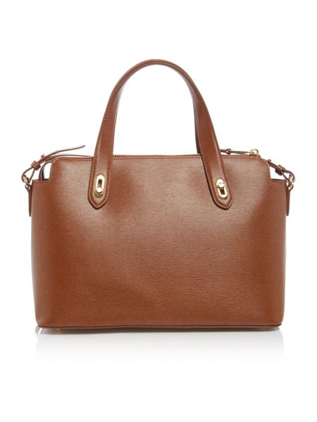Lauren Ralph Lauren Newbury tan cross body tote bag
