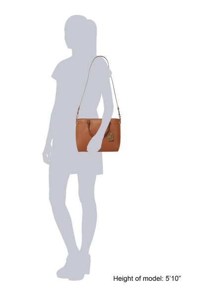 Lauren Ralph Lauren Winston tan cross body tote bag