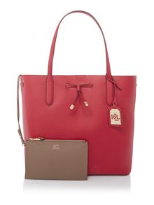 Lauren Ralph Lauren Dryden red tote bag