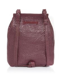 Just Cavalli Bubble calf burgundy backpack