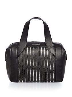 Washed calf stud black small tote