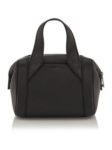Just Cavalli Laminated tumbled black small tote bag