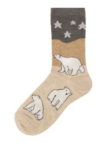 Therapy Polar bear scene socks