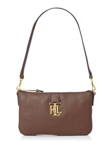 Lauren Ralph Lauren Carrington brown shoulder bag
