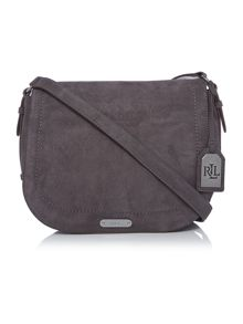 Lauren Ralph Lauren Glennmore grey shoulder bag