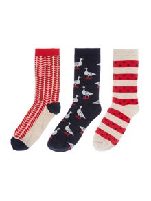 Dickins & Jones Goosey lucie 3 socks in a box
