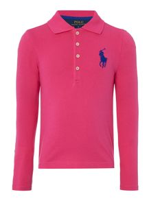 Polo Ralph Lauren Girls Polo with Big Pony Logo