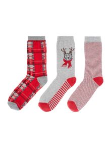Dickins & Jones Westie dog 3 socks in a box