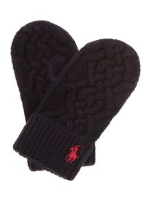 Polo Ralph Lauren Girls Cable Knit Mitten