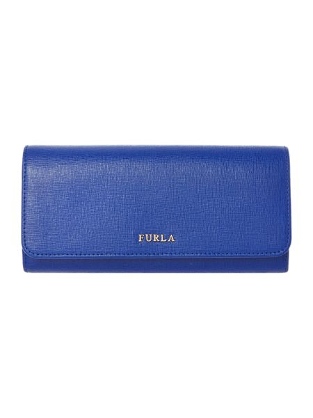 Furla Babylon Dark Blue Large Flapover Purse