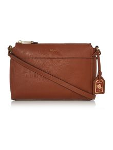 Lauren Ralph Lauren Milford tan brooklyn cross body bag