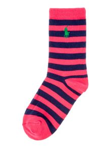 Polo Ralph Lauren Girls Block Stripe Socks