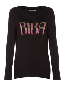 Biba Biba wording crew neck jumper