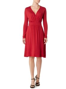 Dickins & Jones Jersey Wrap Dress with Embellishment