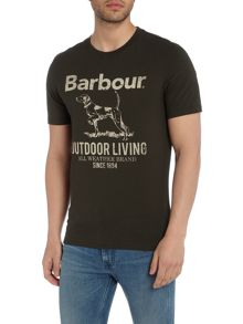Barbour Outdoor dog crew neck tee