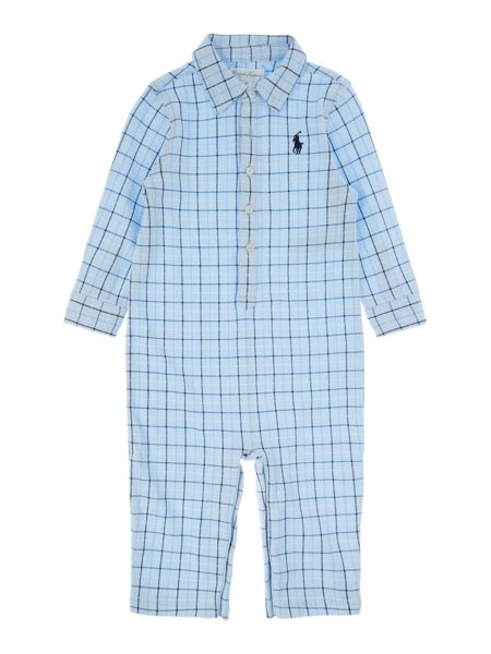 Polo Ralph Lauren Baby Boys Check Print All In One