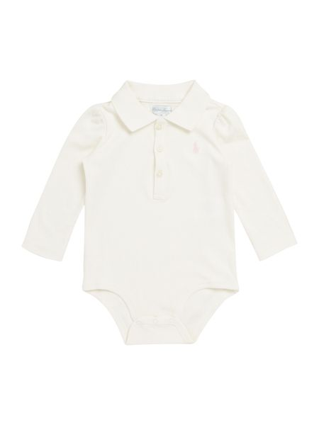 Polo Ralph Lauren Baby Girl Marl Polo Body Suit