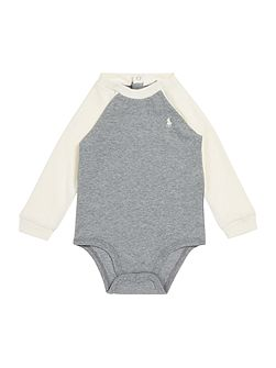 Baby Boys Contrast Raglan Body Suit