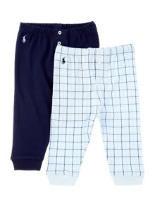 Polo Ralph Lauren Baby Boys 2 Pack Check Print Joggers