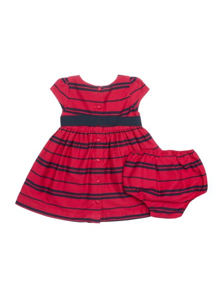 Polo Ralph Lauren Baby Girls Striped Party Dress with Bow