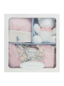 Polo Ralph Lauren Baby Girls 3 Piece All In One Gift Box