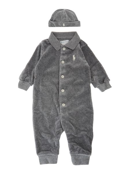 Polo Ralph Lauren Baby Boys 3 Piece Velour All In One Gift Box