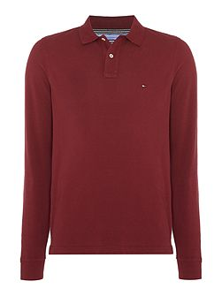 Long Sleeve Slim Fit Polo Top