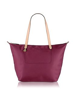 Pocket essentials red large tote bag