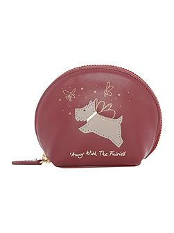 Away with the fairies red small coin purse