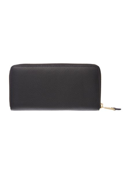 Lauren Ralph Lauren Carrington Black Ziparound Purse