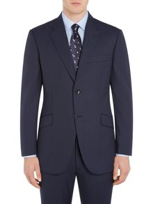 Howick Tailored Oakland Textured Stripe Suit Jacket