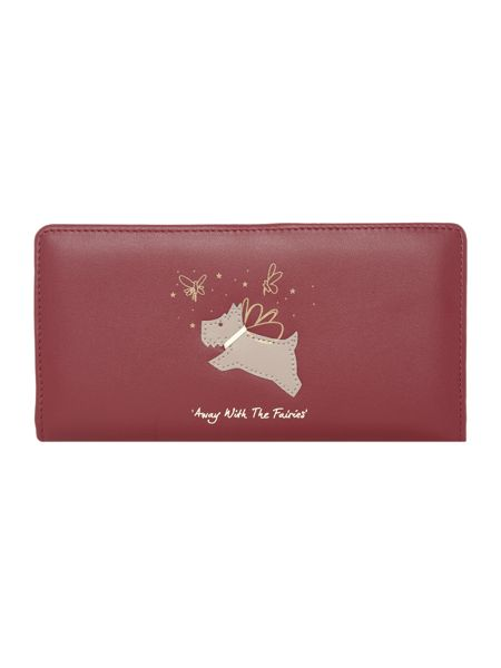 Radley Away with the fairies red large purse