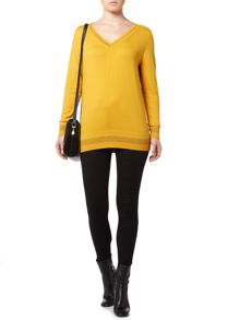 Biba V neck sparkle basic jumper