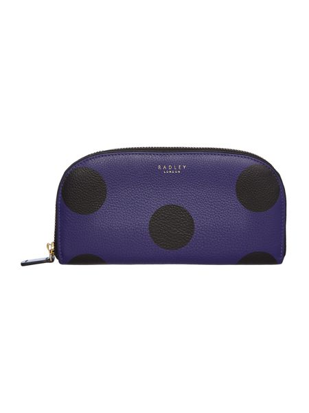 Radley Rochester purple large ziparound purse