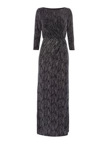 Linea Side knot glitter maxi dress