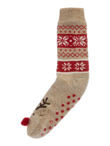 Therapy Reindeer slipper socks