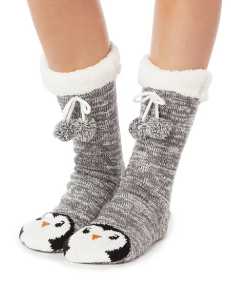 Therapy Penguin slipper socks