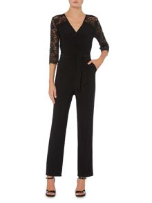 Linea Lace sleeve jumpsuit